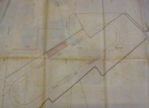Plànol del velòdrom de la Bonanova, a finals del segle XIX. Arxiu districte SSG-Albert Anglès-Minguell