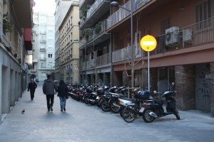El carrer de Sanjoanistes. Fotografia de Pau Farràs