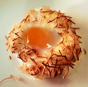 Una creació gastronòmica de David Sanmartín. Fotografia de Javier Sardá
