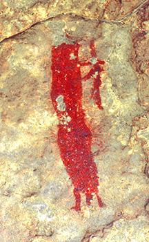 Dos detalls de les pintures rupestres de Mas del Gran (Montblanc), Patrimoni Mundial de UNESCO. Fotografies d'Anna Alonso Tejada