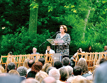 Ada Colau al Turó Parc. Fotografia de Javier Sardá