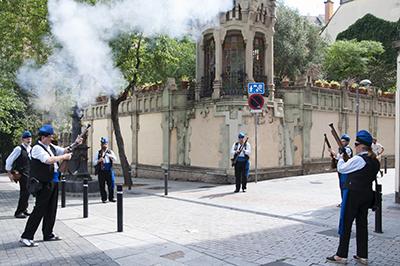 Els trabucaires de Gràcia al Cercavila. Forografia de Rosa Castells