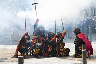 Els Diables Infantils al Cercavila. Forografia de Rosa Castells