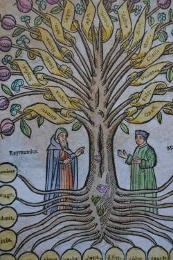 L'arbre de la ciència. Resum del pensament de Llull adreçat a un públic no universitari. Gravat alemany del 1635.