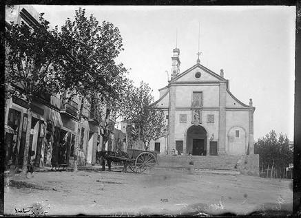 Església dels Josepets a finals del segle XIX. Fotografia: Jaume Anglada Colomines (atribuïda) - Arxiu Fotogràfic de Barcelona (AFB)