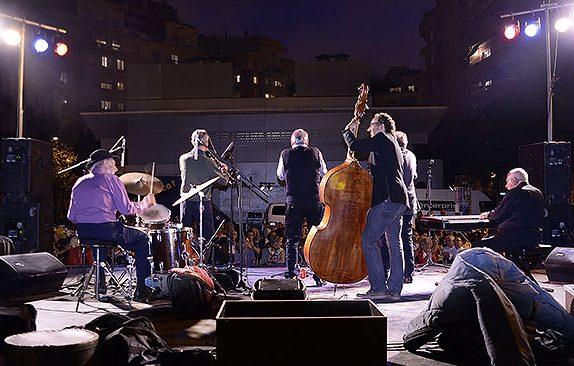 Concert de jazz del Luky Guri i el sextet Dixieland Band. Fotografies de Javier Sardá