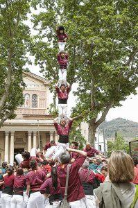 Castellers a la Bonanova. Fotografia de Rosa Castells