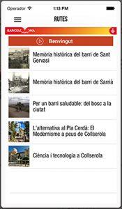 Les Rutes es poden consultar mitjançant una app (barcelona.cat/app4bcn/turismesarria), des del mòbil.