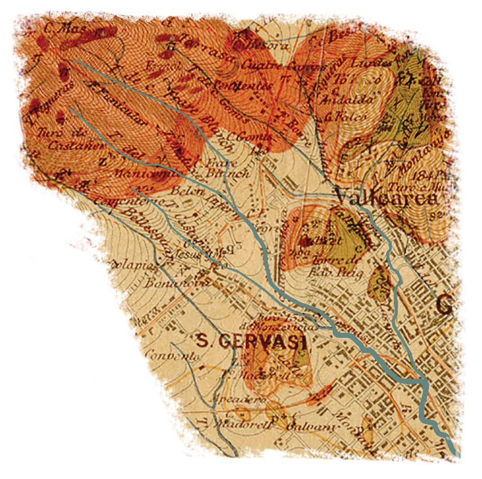 Detall del plànol d'Almera de 1900. Institut Cartogràfic de Catalunya (ICC)