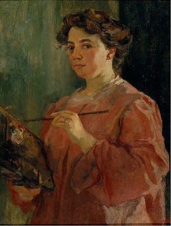 Lluïsa Vidal, Autoretrat, 1899. Museu Nacional d'Art de Catalunya