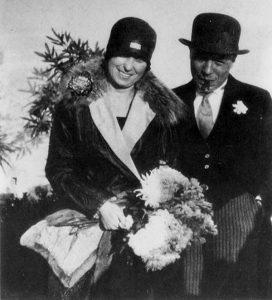 Adi Enberg i Josep Pla, el dia del seu casament.
